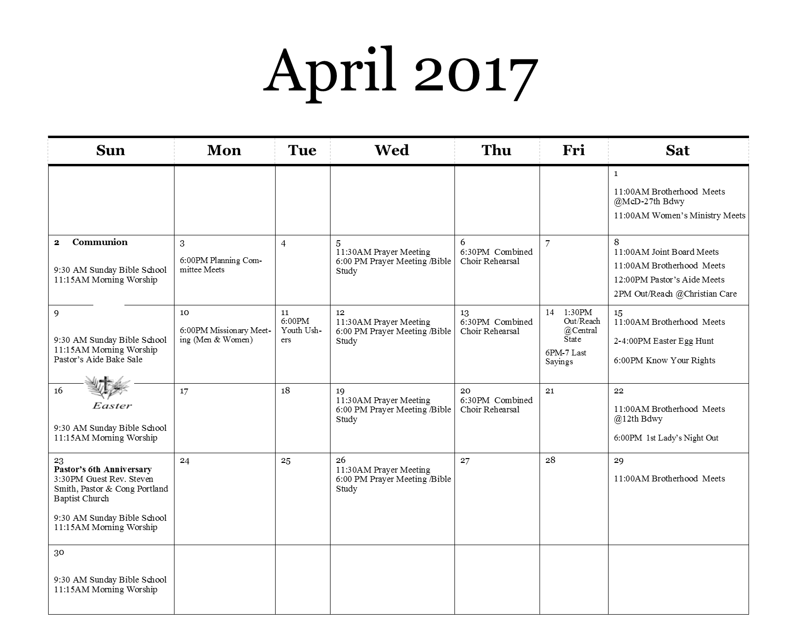 calendarapril2017